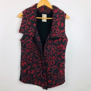 Dolan Catcher Knit Vest Black & Red Medium